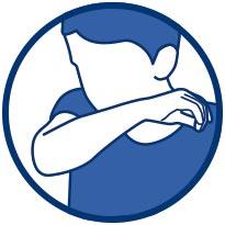 Tousser ou éternuer dans son coude ou dans un mouchoir